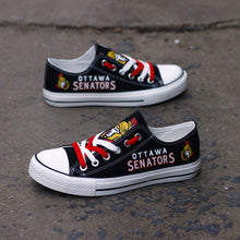 Load image into Gallery viewer, Ottawa Senators Canvas Shoes Low Top Black Sneakers for fans Limited NHL-Shoes-Mike's sport fan