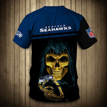 Load image into Gallery viewer, Seattle Seahawks T-Shirt 3D skull cheap gift for fans size S-5XL-tshirt-Mike's sport fan