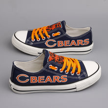 Load image into Gallery viewer, Chicago Bears Canvas Shoes Low Top Sneakers style #1 limits NFL Football Fans-Shoes-Mike's sport fan