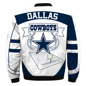 Dallas Cowboys bomber jacket cheap Football gift for best fans-Bomber jacket-Mike's sport fan