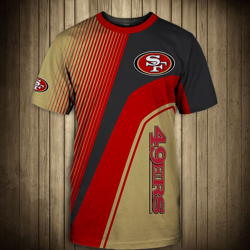San Francisco 49ers T-Shirt 3D custom cheap gift for fans size S-5XL-tshirt-Mike's sport fan