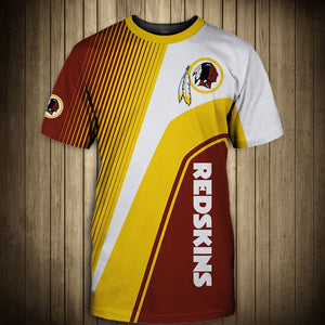 Washington Redskins T-Shirt 3D custom cheap gift for fans size S-5XL-tshirt-Mike's sport fan
