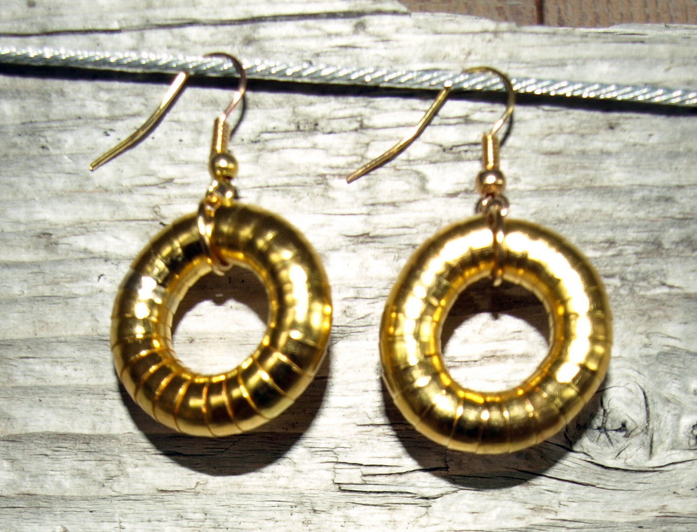 Gold 5mm Single Hoop Earrings