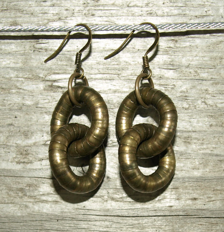 Bronze 5mm Double Hoop Earrings
