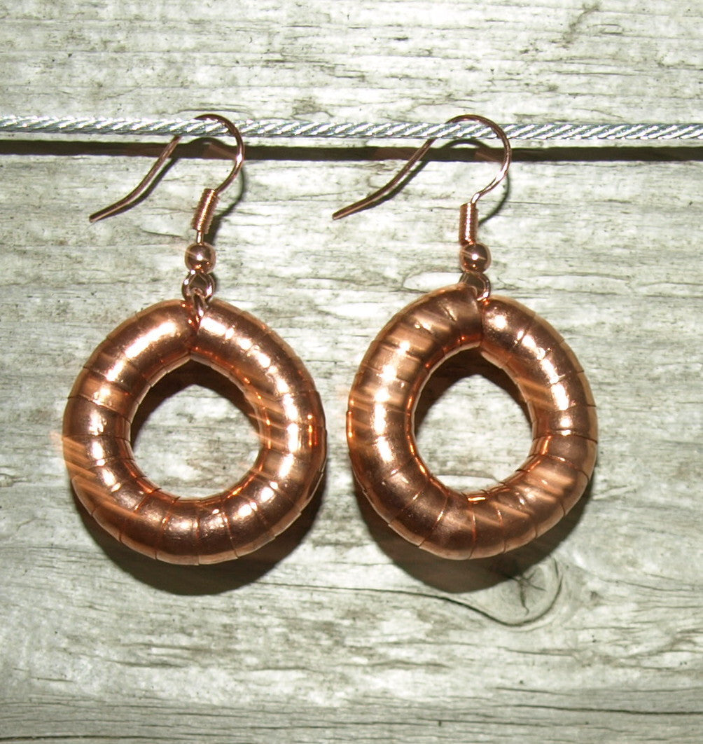 Rose Gold 6mm Hoop Earrings