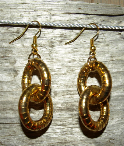 Gold 5mm Double Hoop Earrings
