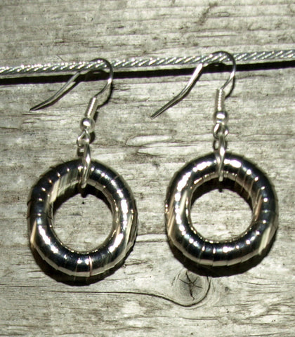 Pewter 5mm Hoop Earrings