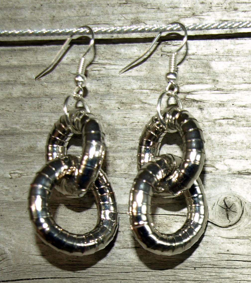 Pewter 5mm Double Hoop Earrings