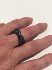 Gun Metal Ring, 5mm thick and 7 inches long