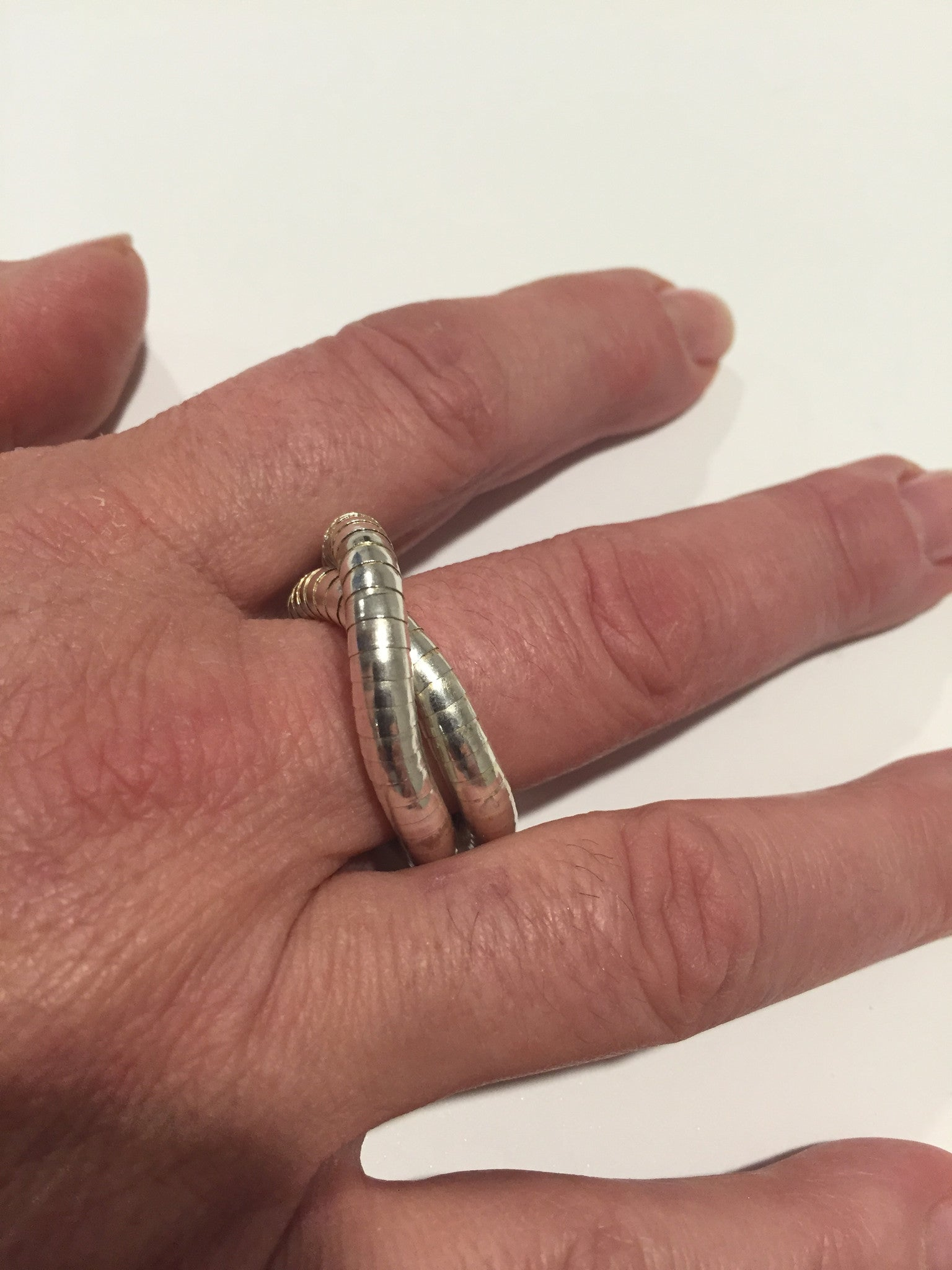 Silver Ring, 5mm thick and 7 inches long