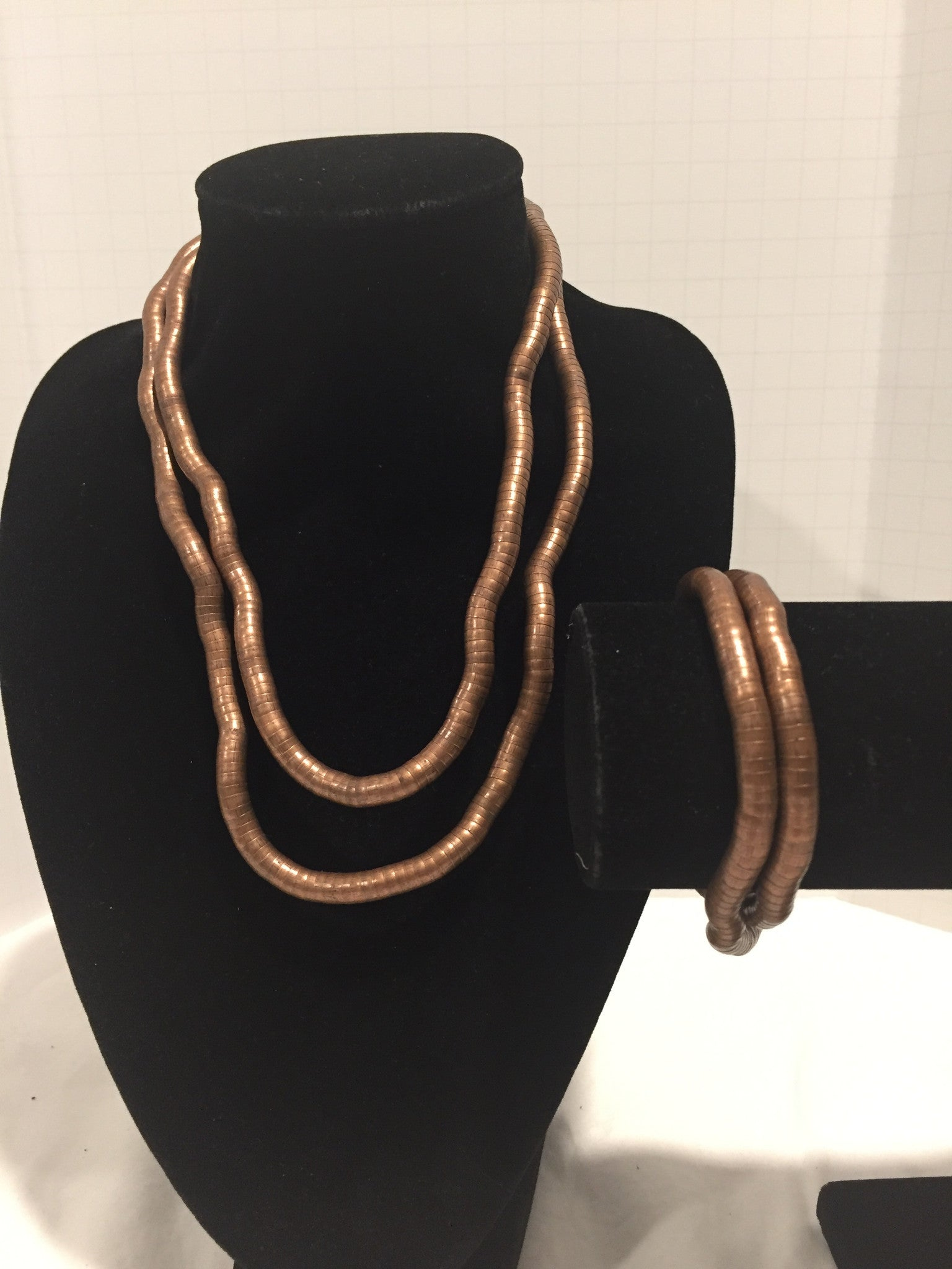 Copper Medium Snake Twist + Copper Bracelet Set