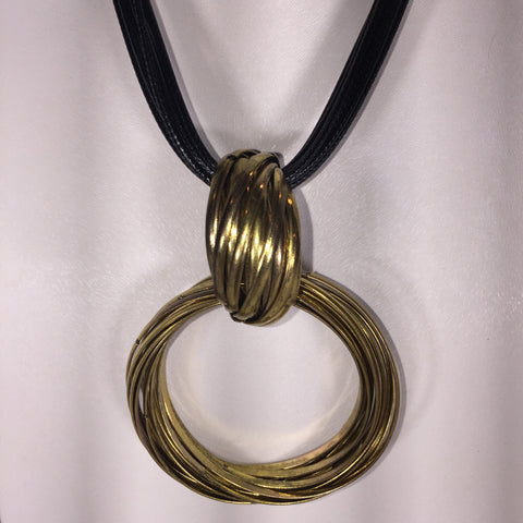 Bronze Locking Rings Necklace