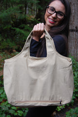 Beige Waterproof Umbrella Tote