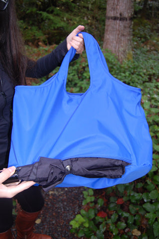 Blue Waterproof Umbrella Tote