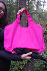 Pink Waterproof Umbrella Tote