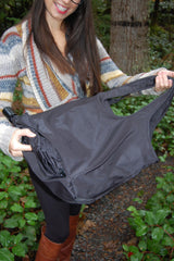 Black Waterproof Umbrella Tote