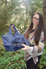 Navy Waterproof Umbrella Tote