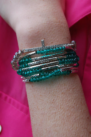 Green Wrap Around Bracelet