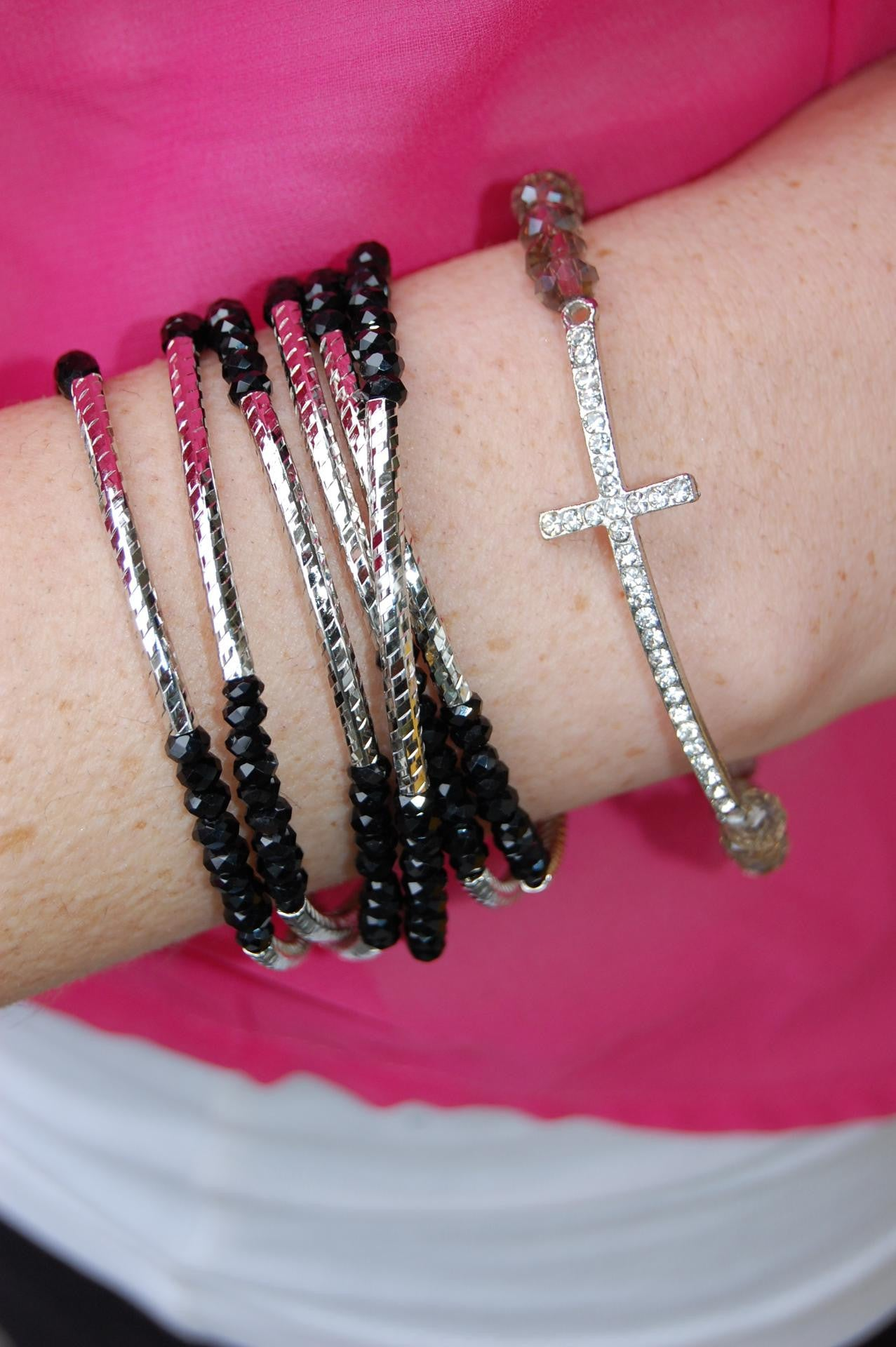 Black Wrap Around Bracelet