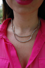 Silver Stud Necklace