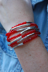 Red Wrap Around Bracelet