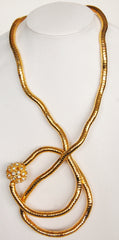 Gold Crystal Ball Necklace