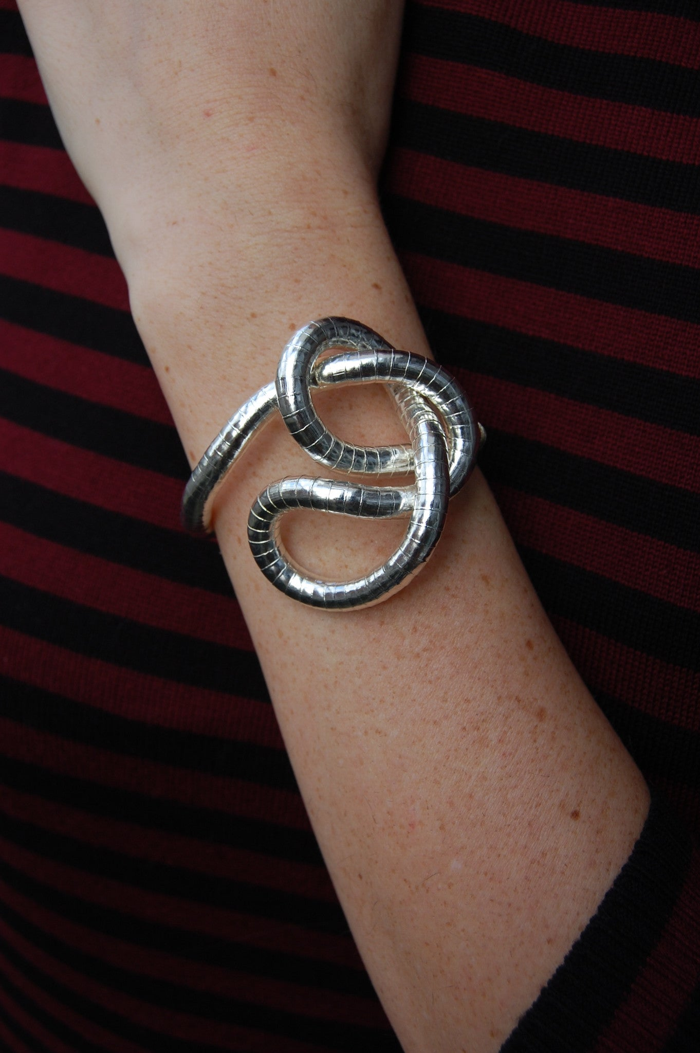 Short Snake Twist Bracelets, 15 inches long