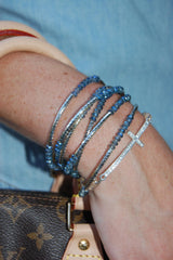 Blue Wrap Around Bracelet