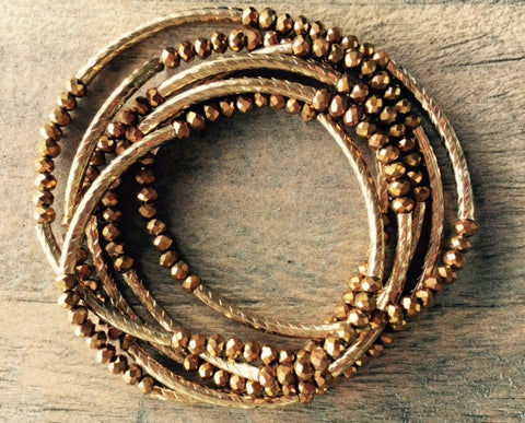 Copper Wrap Around Bracelet