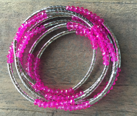 Pink Wrap Around Bracelet