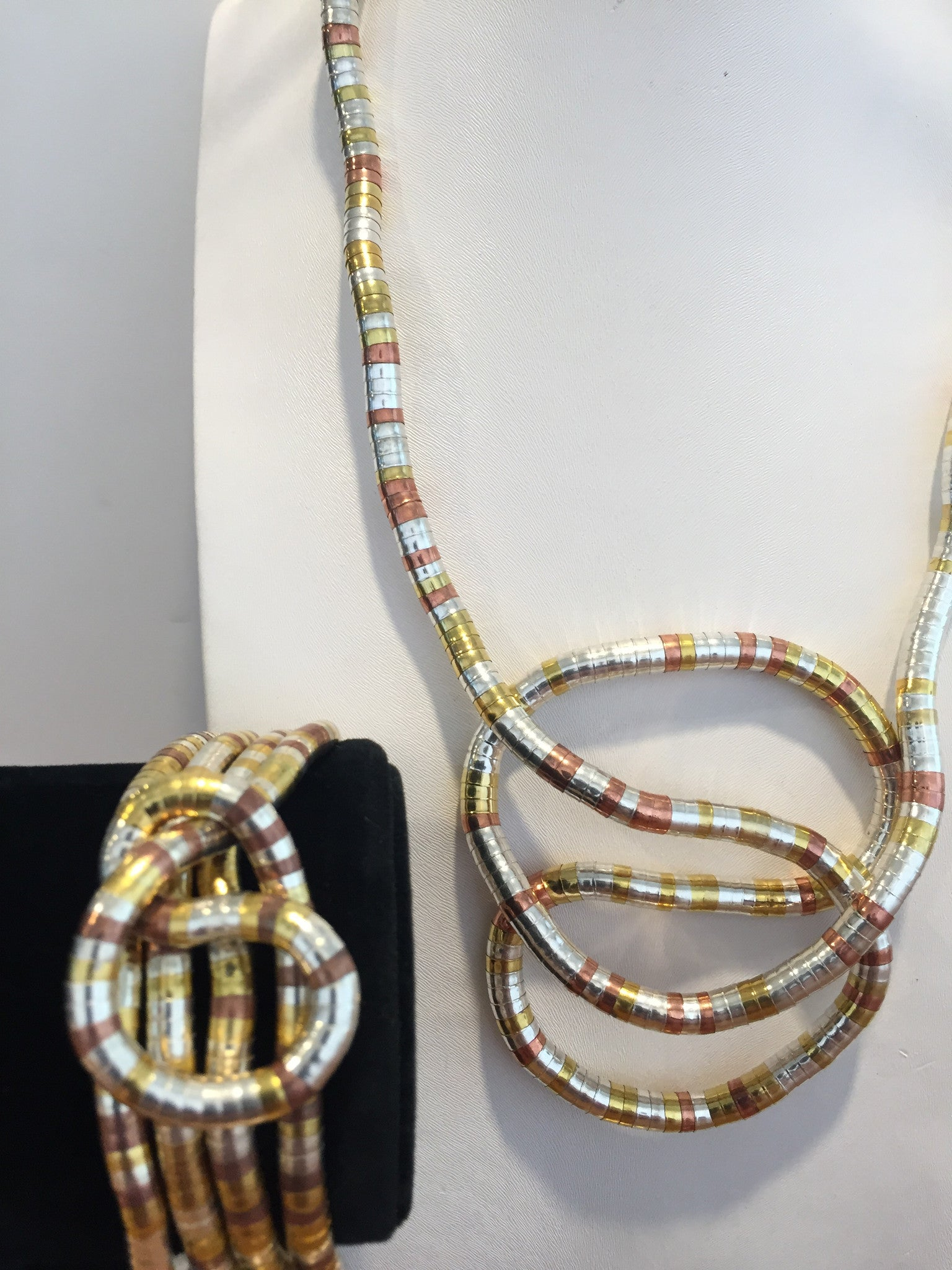 Multi-Color Gold, Red Copper, and Silver 5mm & 6mm Snake Twist Set