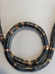 Gun Metal and Gold 8mm, 36 Inches Long