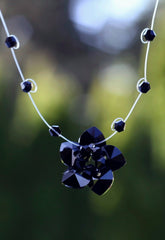 Black Flower Drop Necklace - The Most Gorgeous Pendant Necklace We've Seen