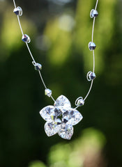 Silver Flower Drop Necklace - The Most Gorgeous Pendant Necklace We've Seen