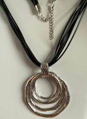 Silver Multi-Ring Necklace