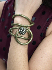 Antique Gold Ball Bracelet