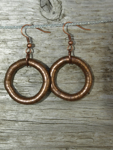 Copper 5mm Single Hoop Earrings