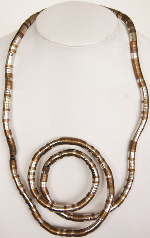 Long Snake Twist Collection, Silver Featured
