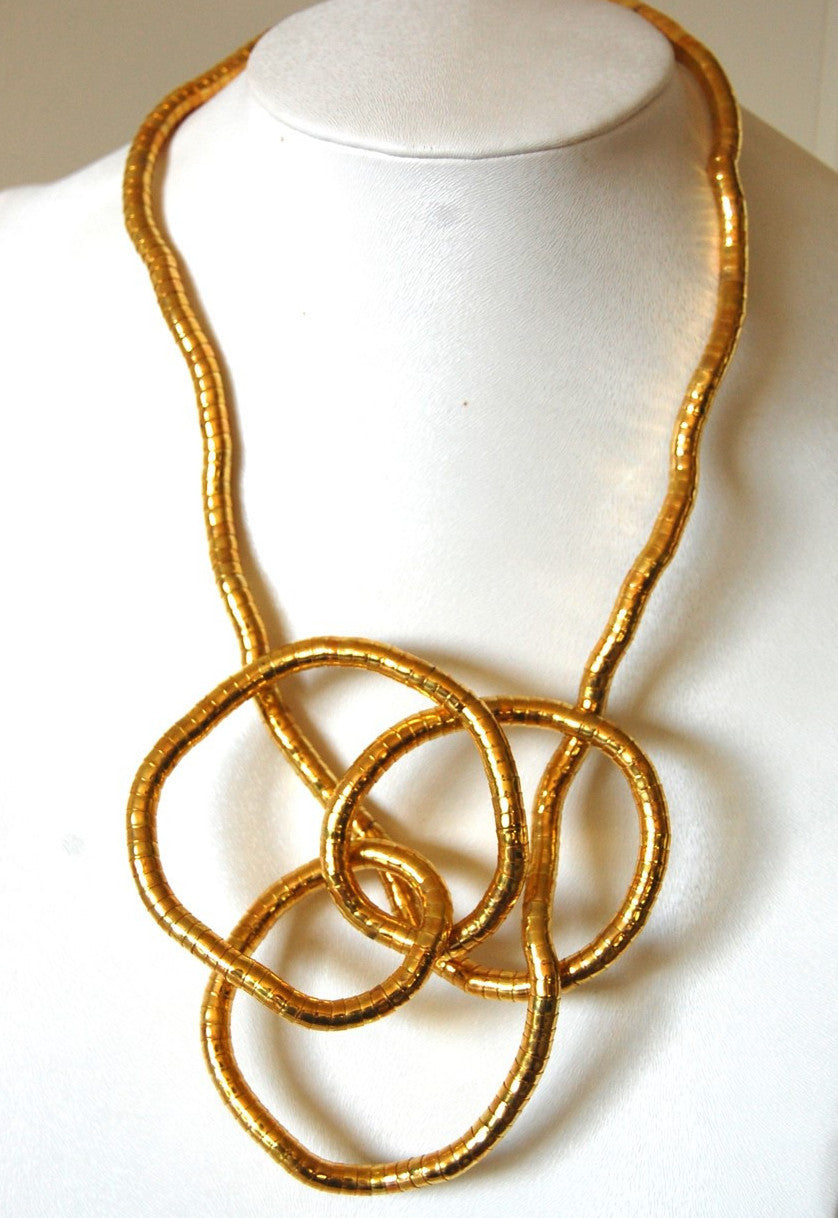 necklaces maxi necklace olig gold twist in