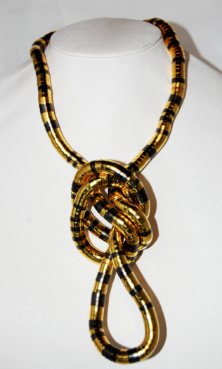 Gold and Gun Metal 8mm, 36 Inches Long