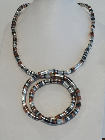 Silver, Red Copper, and Gun Metal, 36 inches long