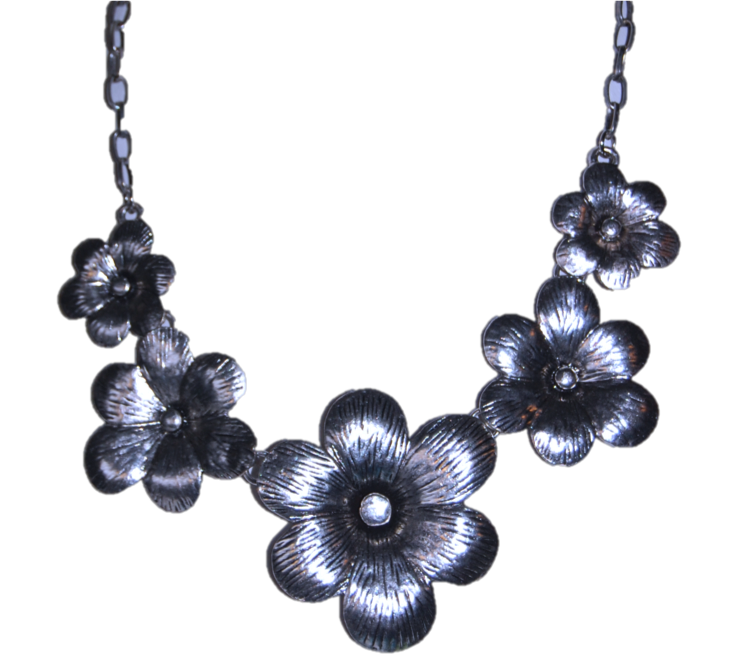 Flower Power Silver Necklace