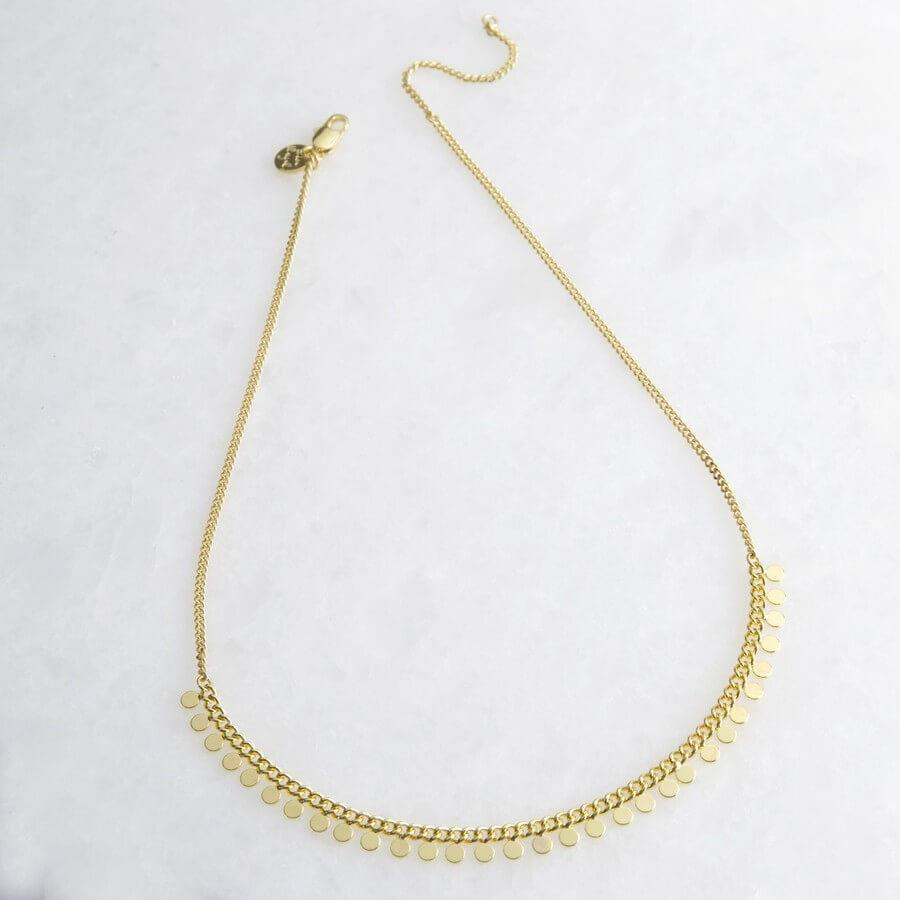 Gold Dotty Short Necklace