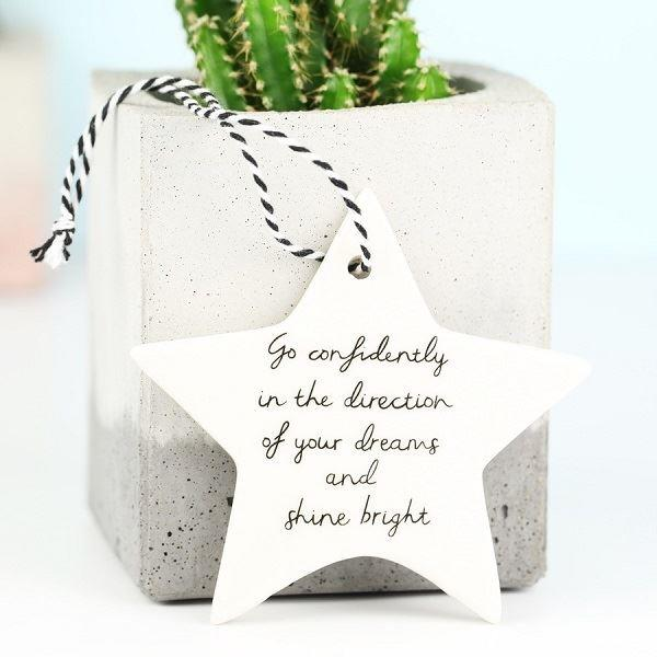 'Go Confidently' Star Hanging Decoration