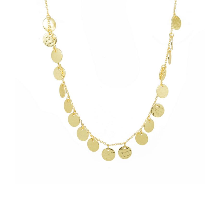 Gold Multi Disc Necklace