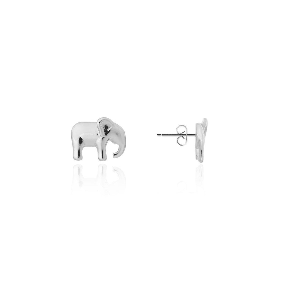 Lucky Elephant Stud Earrings