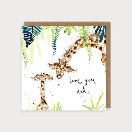 Giraffes Love You Dad Card