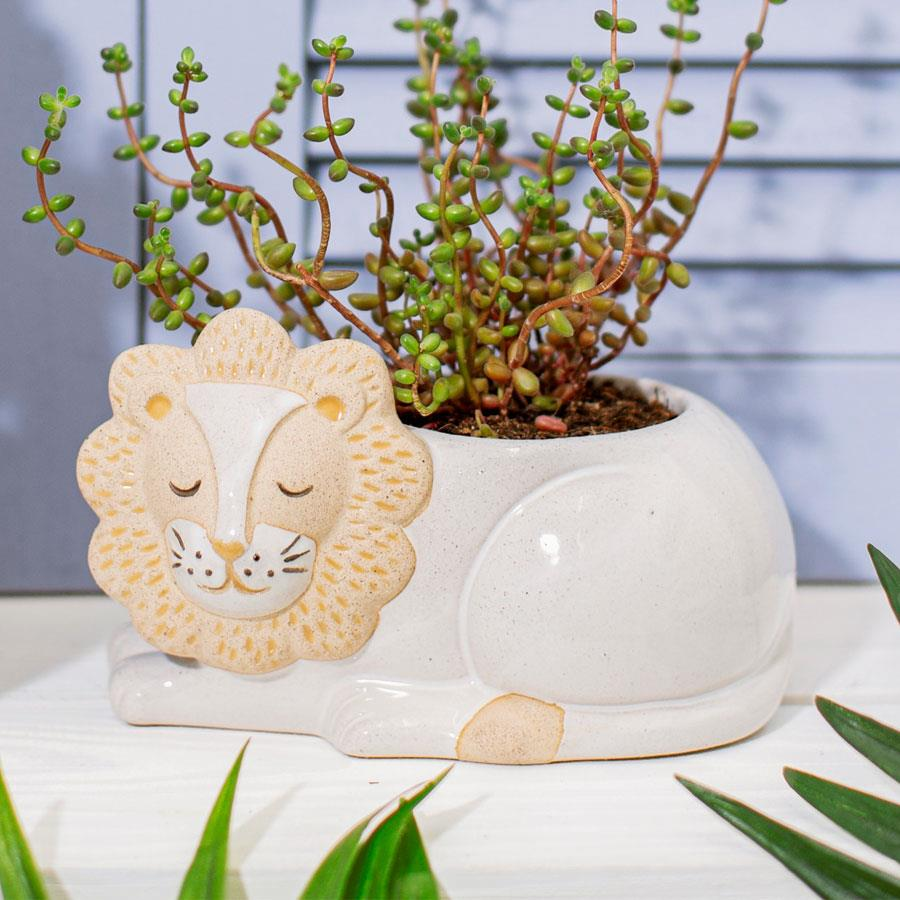 Leo Lion Ceramic Planter
