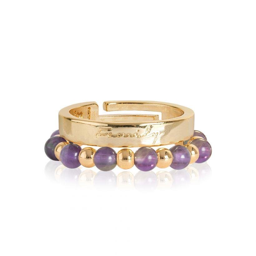 Yellow Gold Family Stacking Rings | Signature Stones