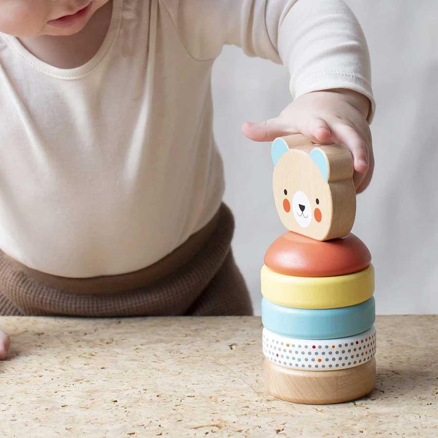 Wooden Bear Stacker Toy